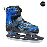 Lucky Family Schlittschuhe für Erwachsene Plüsch-Eisschnelllaufschuhe für Senioren mit verstellbarem Skates, Schlittschuhspaß