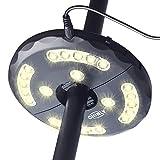 CHINLY LED Schirmleuchte Wiederaufladbare 28 LEDs 3 Level Dimming-Modi, Lade-Umbrella Pole Light für Terrasse Regenschirme, Outdoor-Einsatz, oder Camping Zelte Warm-Weiß [Energieklasse A+]