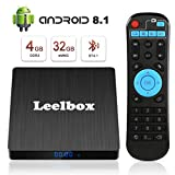 Android 8.1 TV Box - Leelbox Smart TV Box Q4 S 4 GB RAM & 32 GB ROM, Quad Core 64 bit Android Box Wi-Fi integrato/BT 4.1/ Box TV UHD 4K TV/USB 3.0 Media Player, Android Set-top-Box …