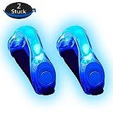 Alviller 2 Stuck LED Armband, Reflective LED Armbänder Leuchtband Reflektor Kinder Nacht Sicherheits Licht für Laufen, Joggen, Hundewandern, Bergsteigen, Running, Jogging und Outdoor Sports (Blau)