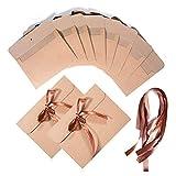 Vordas 30 Stück Kraftpapier Umschlag Briefumschläge Vintage mit Band, Ideal für Erntedankumschläge, Einladungen, Grußkarten und Weihnachtskarten etc,17x12.4cm