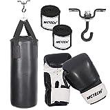 HENGMEI Boxsack Set Sandsack Punchingsack Boxen Erwachsene mit Halterung Handschuhe, Wandhalterung (10kg Boxsack Set mit Handschuhe)