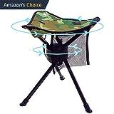 GEERTOP Folding Tripod Swivel Stuhl Voll 360 Grad-Drehung Heavy Duty Camp Hocker für Camping Angeln Wandern Jagd im Freien