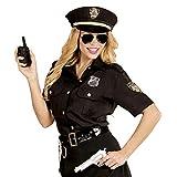 Widmann 67653 Erwachsenenkostüm Polizistin, Damen, Schwarz/Blau, XL