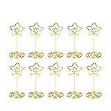 Toyvian Star Memo Clip Papier-Foto-Kartenhalter Schreibtischklemmen (Golden)