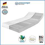 Ravensberger Matratzen 7-Zonen Matratze Softwelle | HR Kaltschaummatratze H1 RG 45 (0-45 kg) | MADE IN GERMANY - 10 JAHRE GARANTIE | ÖKO-TEX 100 Bezug Baumwoll-Doppeltuch 90x200 cm
