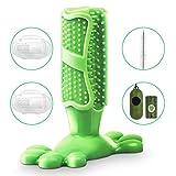 SerDa-Run Hundezahnbürste Hundespielzeug Kauspielzeug Zahnpflege aus Naturkautschuk, Hund Zahnbürsten-Stick für große Hunde, mit 2 x Fingerzahnbürste 1 x Reinigungsbürsten 1 Roll Hundekotbeutel