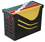 Jalema 2658026998 Re- Solution Office Box, inklusiv 5 Hängemappen A4, farbig sortiert, schwarz