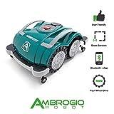 Ambrogio Mähroboter | Modell : L60 Deluxe | Einfach zu bedienen, ohne Installation und ohne Begrenzungskabel für kleine Gärten