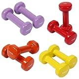 POWRX Vinyl Hantel 8er Set | Gymnastikhanteln ideal für Aerobic Pilates | 0,5kg 1kg 1,5kg 2kg | Kurzhantel Set verschiedene Farben und Gewichte