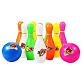 Nomisty Bowling Kinder Set Kegeln Spiel Bowlingkugel Boule-Spiele mit 2 Bälle und 10 Kegel Geschenk Spielzeug für Kinder Jungen Mädchen ab 3 4 5 6 Jahre (4)