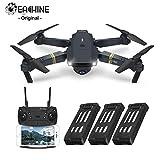 EACHINE Drohne mit Kamera E58 Live Übertragung,120°Weitwinkel 720P HD Kamera, WiFi FPV Quadrocopter, App-Steuerung, One Key Start/Landung,Headless Modus,Pocket Drohne für Anfänger, 3 AKKU ,Schwarz