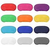 12 Stücke Mehrfarbig Augenmaske Abdeckung Leichte Augenbinde Schlafmaske mit Nasenpolster und Elastische Gurte für Kinder Frauen Männer, 12 Farben