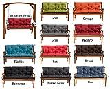 MH Gartenbankauflage Bankauflage Bankkissen Sitzkissen 100 x 60 x 50 cm Polsterauflage Sitzpolster (dunkelgrau)