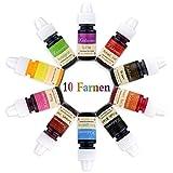Lebensmittelfarbe flüssig Set, 10 lebensmittel farben, Farbe Farbstoff extrem hoch konzentriert,Set zum Geeignet für Kuchen,Backen und alle Lebensmittelfärbungen