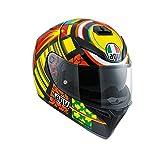 AGV 0301A0EY_005_ML K-3 SV E2205 Helm TOP PLK, Mehrfarbig, Größe ML