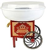 Gadgy  Zuckerwattemaschine Wagen für Zuhause   Cotton Candy Machine   für Zucker oder Harte Süßigkeiten   Zuckerwattegerät für Kindergeburtstag   Rot Weiß