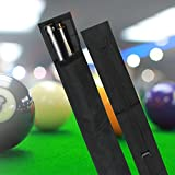 Snooker Pool Billard Queue Tasche Koffer Köcher, Nylon Pool Queue Billard Stick Lagerung Tragetasche 1/2 3/4 Größe schwarz(3/4 Art)