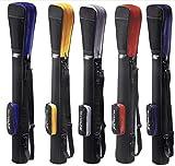 Golftasche/Pencilbag/Reisebag/Rangebag/Pistolbag/Tragebag mit integrierter Schutzhaube und Außentasche | für bis zu 8 Schläger | 1 Pack Killagolf-Tees Free (rot-schwarz)