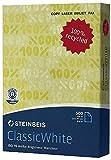 Steinbeis Eco-Premium-Papier - ClassicWhite 2500 Blatt - 80 g/qm - ISO70 - DIN-A4 - Cradle-to-Cradle-Zertifikat in Silber - GRATIS VERSAND CO2-neutral
