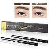 Augenbrauenstift, Eyebrow pencil, Augenbrauenstift Wasserfest , Augenbrauenstift Braun, Wischfester Augenbrauenstift, Augenbrauenstift mit Bürste, Automatisch Make-up Stift Pinsel