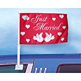 Auto-Fahne: Just Married 2