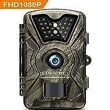 EARTHTREE Wildkamera,14MP 1080P Full HD Jagdkamera Low Glow Infrarot 20m Nachtsicht Überwachungskamera 2.4' LCD IP66 Wasserdichte Nachtsichtkamera Wildkamera Fotofalle