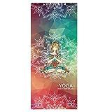 ASDFGH Portable Anti-rutsch Schnell trocknender Yoga Matte Handtuch, Yoga-Handtuch mit ecktaschen Optimale Yoga Mate Geruchlos Schweiß absorbierende-M 72x31 inch