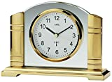 AMS Unisex Standuhren Analog Funk Mineralglas 14 x 19 cm Gold 5143