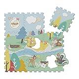 Chicco 00009307000000 Disney Bambi Spielmatte 9-teilig, mehrfarbig