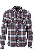 !Solid Herren Hemd, Flanellhemd Karo, Aktuelles Modell Platon Flanell Hemd Karo Freizeithemd Flanellhemd Farbe: Blau Größe: S