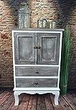 Livitat Kommode Schrank Landhaus Shabby Chic Vintage barock Grau LV1094