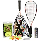 Speedminton S900 Set – Original Speed Badminton/Crossminton Profi Set mit Carbon Schlägern inkl. 5 Speeder, Spielfeld, Tasche