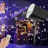 LED Projektionslampe Weihnachten, Weihnachtsbeleuchtung Außen, Schneeflocken Schneefall Effektlicht mit Fernbedienung Timer, LED Projektor Lampe Wasserdicht Weihnachtsdeko Garten Beleuchtung Innen