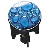 WENKO 20795100 Waschbeckenstöpsel Pluggy Drops, Abfluss-Stopfen, für alle handelsüblichen Abflüsse, Kunststoff, 3.9 x 6.5 x 3.9 cm, Mehrfarbig
