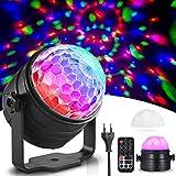 homesasy Discokugel LED Party Lampe Musikgesteuertes Diskokugel Klein LED RGB Effektstrahler mit Fernbedienung für Party, Hochzeits-Show,Feier Disco Lichteffekt Bühnenlicht