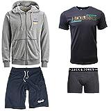 JACK & JONES Herren Sommer Box Sweat Hoodie T Shirt Trunk Boxershort Shorts Kurze Hose Sport Bermuda S M L XL XXL (M, Sommer Box 4)