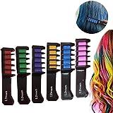 Haarkreide,Hair Chalk,Haarkreide-Set,LDream 6 Farben - vibrierende,langlebige temporäre Schimmer Haar Farben Creme mit Kämme Haare Färben Kreide Haartönungen