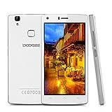 Smartphone Ohne Vertrag, DOOGEE X5 Max 3G Dual SIM Handys, Android 6.0 Smartphone 5 Zoll HD IPS Display, 16 GB Speicher 5.0MP Kamera, 4000mAh Fingerabdruck - Weiß