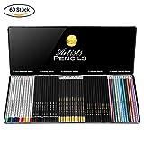 Buntstifte Bleistifte 60pcs Skizzierstifte Ausgewählte Farben Zeichenset zum Malen für Anfänger Künstler Studenten Kinder Erwachsene von LOETAD