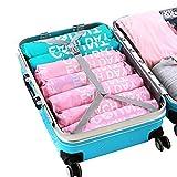Acoki Reise Vakuumbeutel zum Rollen, Vakuum-Platzsparer Bags für die Lagerung Travel Roll Up Compression Aufbewahrungsbeutel für Koffer Sparen Stauraum Kein Vakuum benötigt (6 Stück)