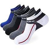 Aaronano Herren Laufsocken, 5er Pack Sportsocken Herren Sneaker Socken mit Verstärkter Frotteesohle