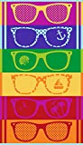 Strandtuch 'Sunglasses' 90x180 cm