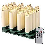 Kohree 20er LED Kerzen mit Fernbedienung Timerfunktion Batterien Dimmbar IP64, Weihnachtsbeleuchtung Innen Außen für Weihnachtsbaum Weihnachtsdeko Hochzeit Geburtstag Party,Energieklasse A++