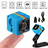 JZWDMD Mini Kamera 1080P HD Sicherheit Überwachungskamera Portable Kleine HD Nanny Kamera Mit Nachtsicht Und Bewegungserkennung Für Home/Office Indoor,Blue