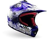 "Armor · AKC-49 ""Blue"" (Blau) · Kinder-Cross Helm · Sport Enduro Moto-Cross Motorrad Kinder Off-Road · DOT certified · Click-n-Secure Clip · Tragetasche · XS (51-52cm)"