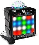 ION Audio Kabelloser Lautsprecher - Party Rocker Express BT Speaker mit LED und Mikrofon (Musik-Streaming von jedem Bluetooth-Gerät - eingebautes Mikro sychronisiert das Licht zur Musik - Reichweite: 30 Fuß)