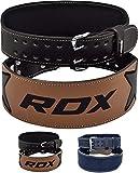 RDX 4' Gewichthebergürtel Rindsleder Fitness Crossfit Gym Trainingsgürtel Bodybuilding Krafttraining