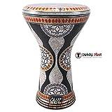 gawharet EL Fan 43,2cm Perlmutt Darbuka Black Gate Darbuka Trommel Percussion