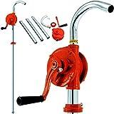 Effektive Kurbelfasspumpe Kurbelpumpe Fasspumpe Handpumpe Umfüllpumpe Ölpumpe aus Gusseisen Metall - verstellbare Fassverschraubung - für Heizöl - Motoröl - Rapsöl - 30l/min